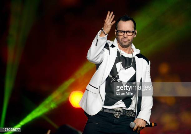 Singer Donnie Wahlberg of New Kids on the Block performs at the Mandalay Bay Events Center during The Package Tour on July 6 2013 in Las Vegas Nevada