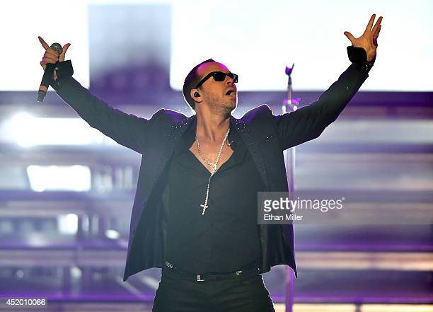 Singer Donnie Wahlberg of New Kids on the Block performs during the first show of the group's fournight run at The Axis at Planet Hollywood Resort...