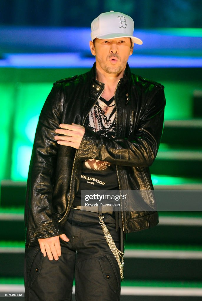 Singer Donnie Wahlberg of New Kids on the Block performs onstage during the 2010 American Music Awards held at Nokia Theatre L.A. Live on November 21, 2010 in Los Angeles, California.