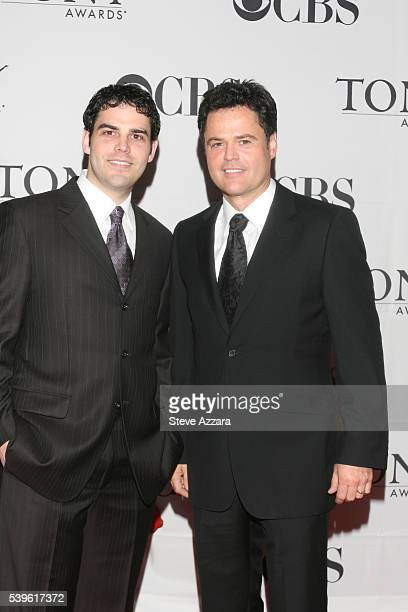 Singer Donny Osmond and son Donny Jr arrive for the 61st Annual Tony Awards at Radio City Music Hall in New York New York