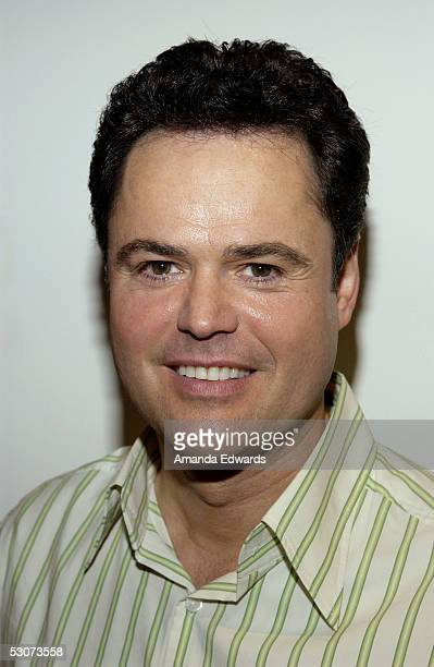 Singer Donny Osmond arrives at the Golden Dads Awards ceremony at the Peterson Automotive Museum on June 15 2005 in Los Angeles California