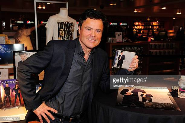 Singer Donny Osmond arrives to release his 60th album 'The Soundtrack of My Life' at Flamingo Las Vegas on February 20 2015 in Las Vegas Nevada