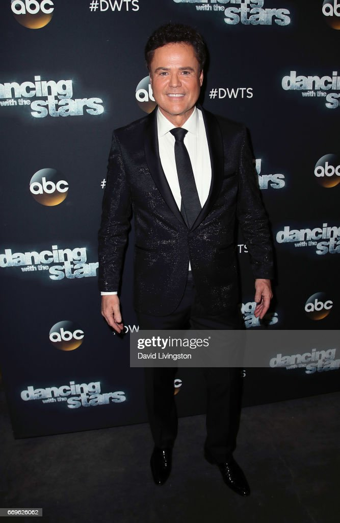 Singer Donny Osmond attends 'Dancing with the Stars' Season 24 at CBS Televison City on April 17, 2017 in Los Angeles, California.