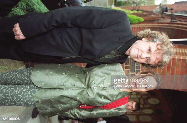 Singer Donovan with his wife Linda Lawrence at the funeral of composer Lionel Bart Friends from the world of showbiz gathered at Golders Green...