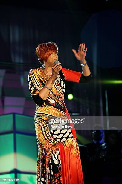 Singer Dorinda ClarkCole performs during the Allstate Gospel SuperFest 2015 at House Of Hope Arena on MARCH 21 2015 in Chicago Illinois