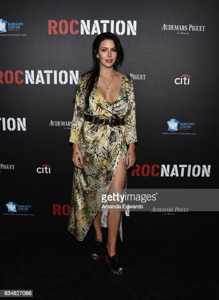 Singer Dorothy Martin arrives at Roc Nation's PreGRAMMY Brunch on February 11 2017 in Los Angeles California