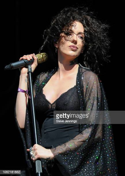 Singer Dorothy Martin performs on Day 2 of Aftershock Festival 2018 at Discovery Park on October 14 2018 in Sacramento California
