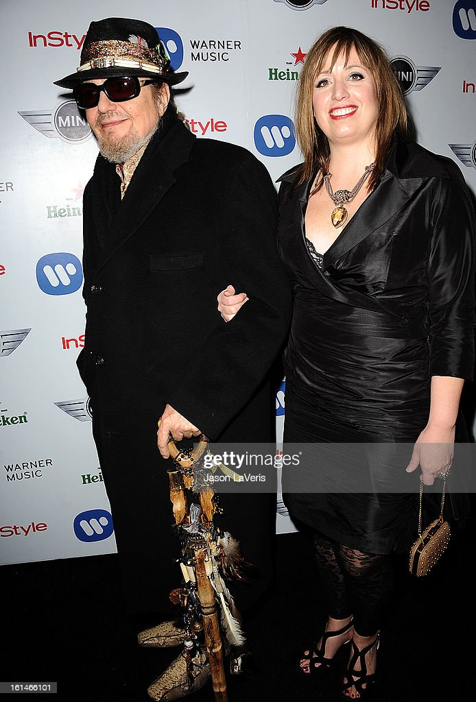 Singer Dr  John and Cat Yellen attend the Warner Music Group