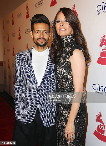 Singer Draco Rosa and actress Angela Alvarado attend The 14th Annual Latin GRAMMY Awards after party at the Mandalay Bay Events Center on November 21...