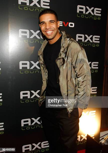 Singer Drake attends Axe Lounge at Fontainebleau Miami Beach on February 5 2010 in Miami Beach Florida