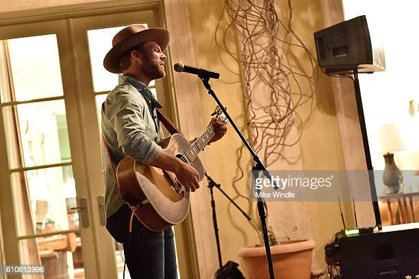 Singer Drake White performs during the All For The Hall Los Angeles preevent cocktail reception on September 26 2016 in Los Angeles California