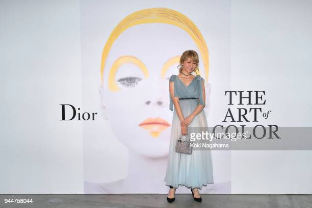 Singer Dream Ami attends Dior's The Art of Color Press Preview on April 11 2018 in Tokyo Japan