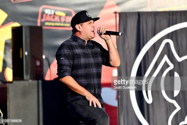 Singer Dryden Mitchell of the band Alien Ant Farm performs onstage during the Jack FM 13th annual concert at FivePoint Amphitheatre on October 14...