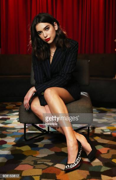 SYDNEY NSW Singer Dua Lipa poses during a photo shoot at the QT Hotel in Sydney New South Wales