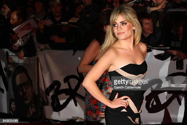 Singer Duffy arrives at the Brit Awards 2009 at Earls Court on February 18 2009 in London England