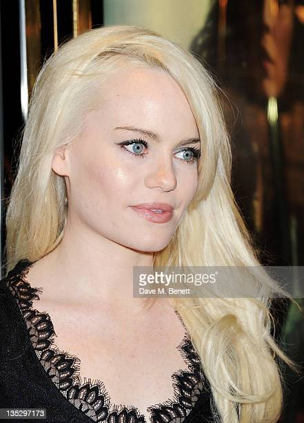Singer Duffy arrives at the European Premiere of 'Sherlock Holmes A Game of Shadows' at Empire Leicester Square on December 8 2011 in London England