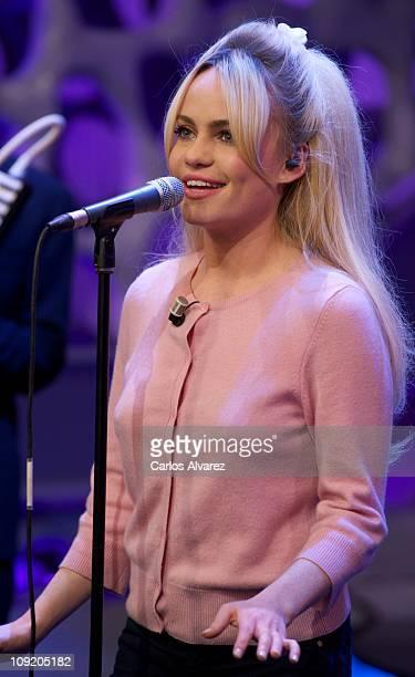 "Singer Duffy attends ""El Hormiguero"" Tv show on February 16, 2011 in Madrid, Spain."