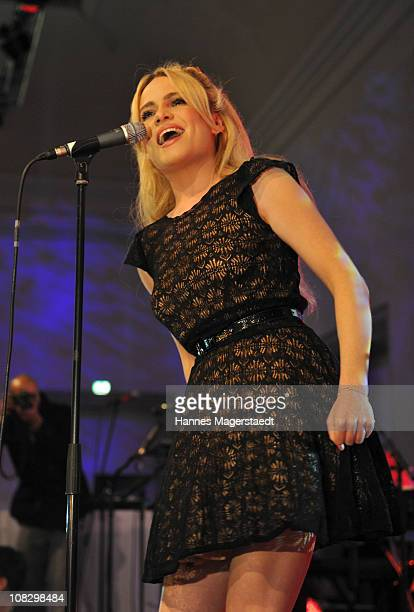 Singer Duffy performs during the Focus Night as part of the DLD conference 2011 at Haus der Kunst on January 24 2011 in Munich Germany