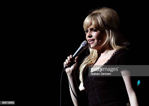 Singer Duffy performs on stage at the Sydney Opera House on March 26 2009 in Sydney Australia