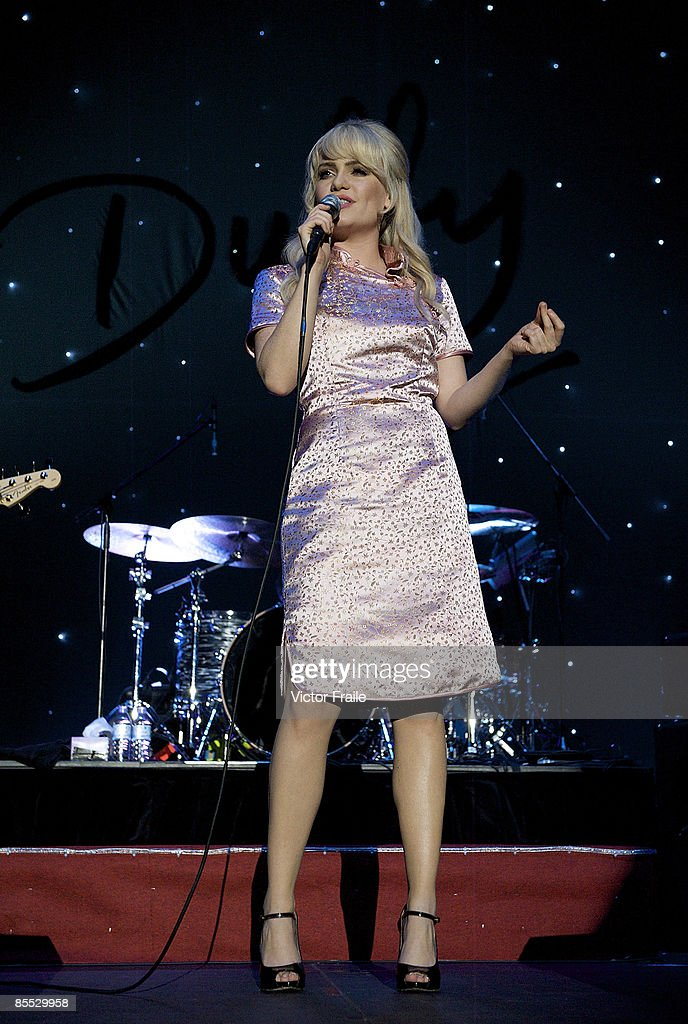 Singer Duffy performs on stage in concert at the Asia World-Arena on March 20, 2009 in Hong Kong.