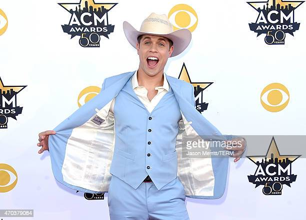 Singer Dustin Lynch attends the 50th Academy of Country Music Awards at ATT Stadium on April 19 2015 in Arlington Texas