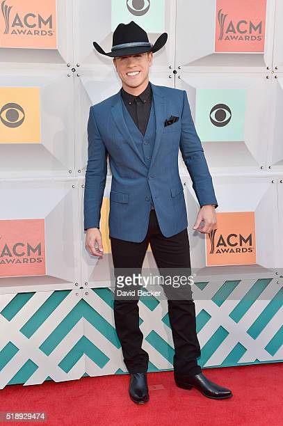 Singer Dustin Lynch attends the 51st Academy of Country Music Awards at MGM Grand Garden Arena on April 3 2016 in Las Vegas Nevada