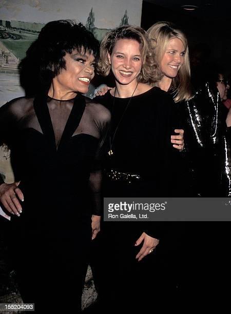 Singer Eartha Kitt daughter Kitt Shapiro and model Christie Brinkley attend Eartha Kitt's Cabaret Concert Performance on January 4 1996 at Cafe...