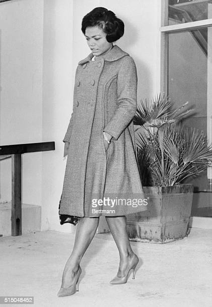 Singer Eartha Kitt leaves the court house after winning an uncontested divorce from Beverly Hills accountant William O McDonald was inconsiderate of...