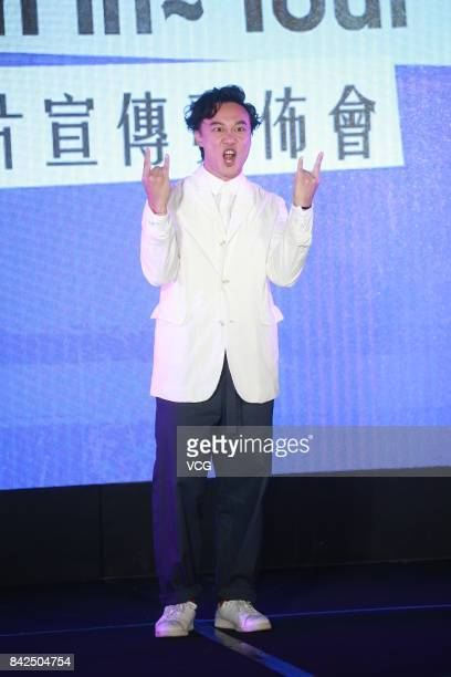 Singer Eason Chan attends a press conference of his world tour concerts on September 4 2017 in Hong Kong China