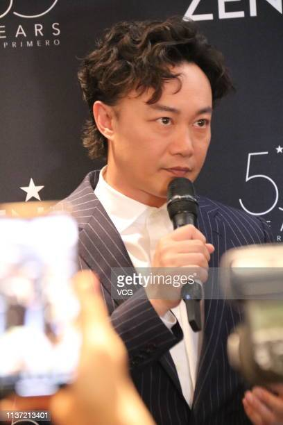 Singer Eason Chan attends Zenith press conference during the Baselworld 2019 Watch and Jewelry Show on March 20 2019 in Basel Switzerland