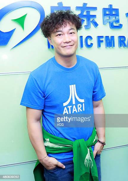Singer Eason Chan celebrates first Eason Chan's Day presented by Music FM Radio Guangdong on July 13 2015 in Guangzhou Guangdong Province of China...