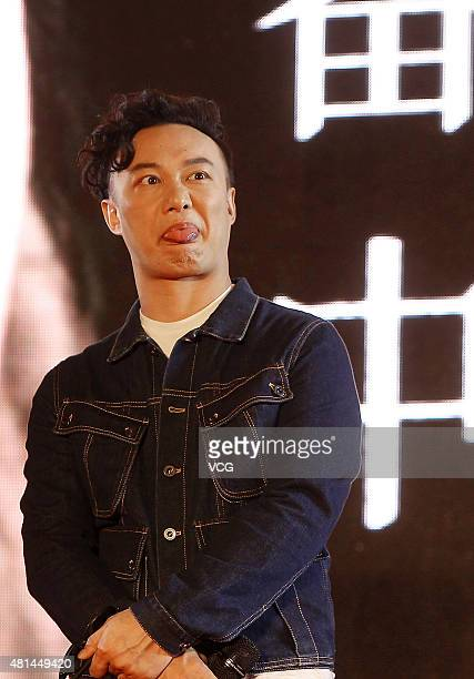 Singer Eason Chan promotes his new album Getting Ready on July 20 2015 in Chengdu Sichuan Province of China