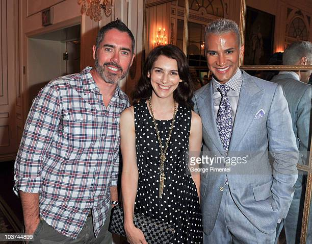 Singer Ed Robertson, actress Liane Balaban and Jay Manuel attend the 25th Annual Gemini Awards Press Conference at Sutton Place Hotel on August 31,...