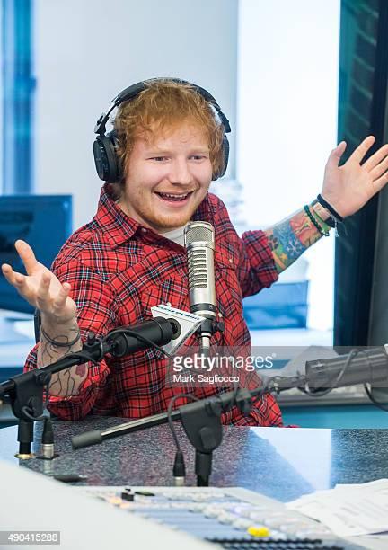 Singer Ed Sheeran attends 'The Elvis Duran Z100 Morning Show' at Z100 Studio on September 28 2015 in New York City
