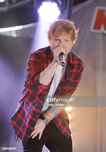 Singer Ed Sheeran performs at 1027 KIIS FM's 2014 Wango Tango at StubHub Center on May 10 2014 in Los Angeles California