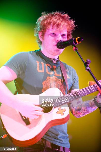 Singer Ed Sheeran performs on stage during Electric Picnic on August 31 2012 in Stradbally Ireland