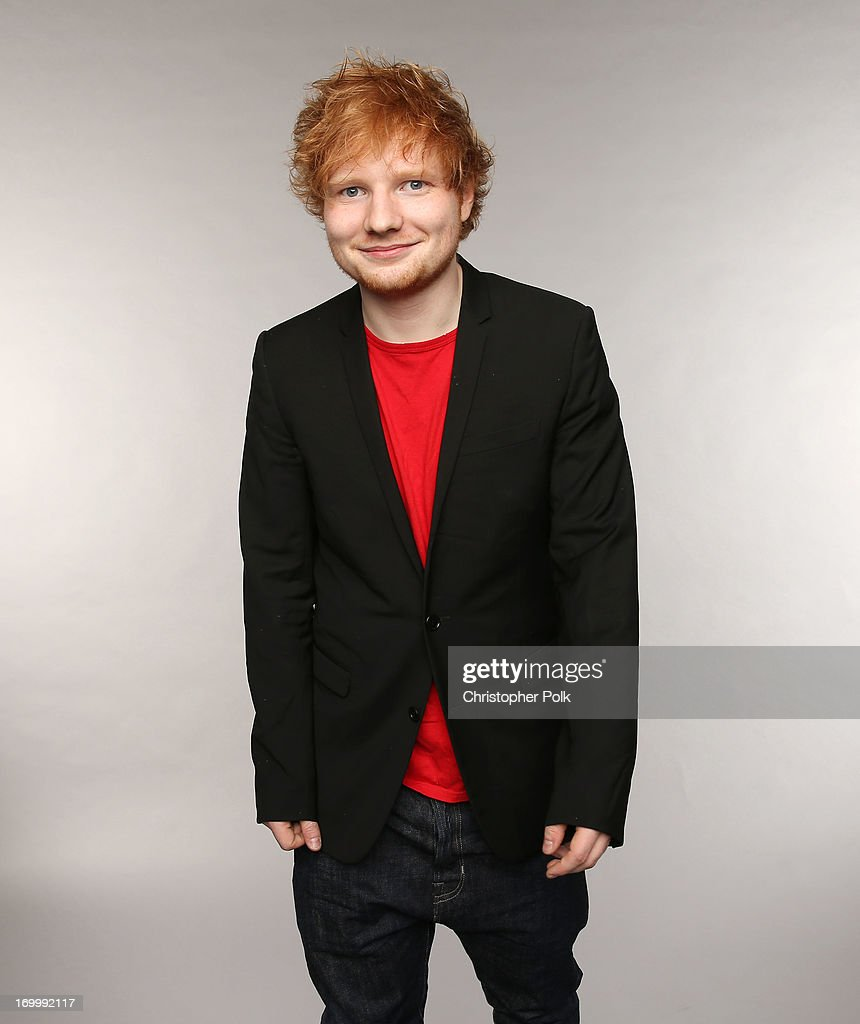 Singer Ed Sheeran poses at the Wonderwall portrait studio during the 2013 CMT Music Awards at Bridgestone Arena on June 5, 2013 in Nashville, Tennessee.