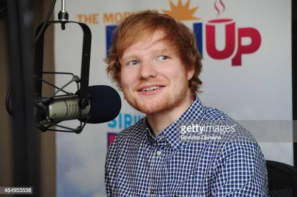 Singer Ed Sheeran visits SiriusXM's 'Hits 1' at SiriusXM Studios on September 8, 2014 in New York City.