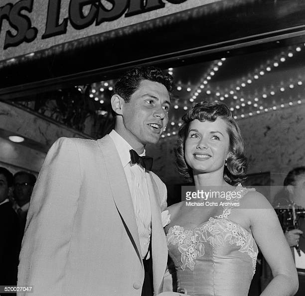 Singer Eddie Fisher and actress Debbie Reynolds attend an event in Los Angeles,CA.