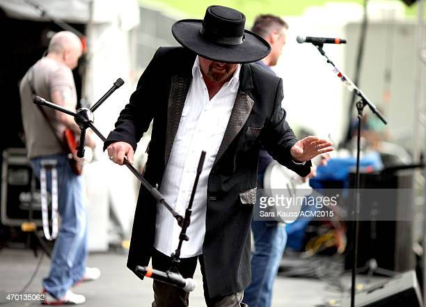 Singer Eddie Montgomery of Montgomery Gentry performs onstage during the ACM Party For A Cause Festival at Globe Life Park in Arlington on April 17...