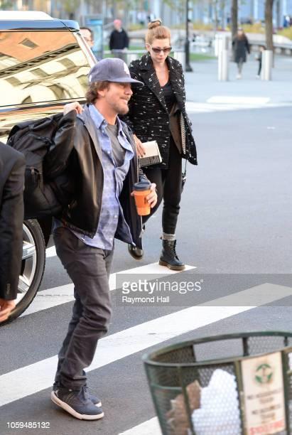 Singer Eddie Vedder and Jill McCormick are seen walking insoho on November 8 2018 in New York City