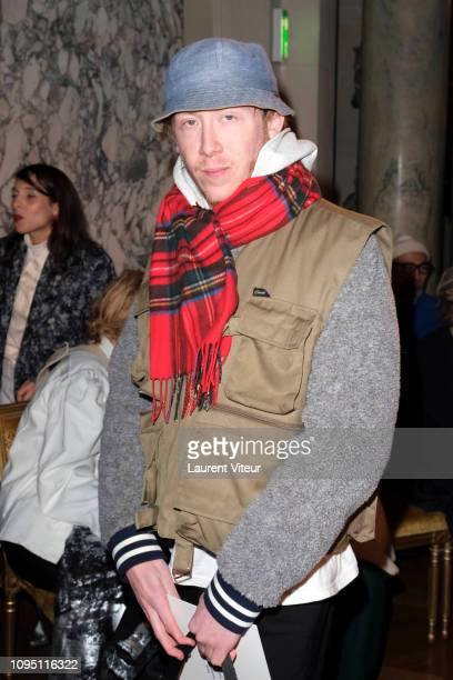 Singer Eddy de Pretto attends the Raf Simons Menswear Fall/Winter 20192020 show as part of Paris Fashion Week on January 16 2019 in Paris France