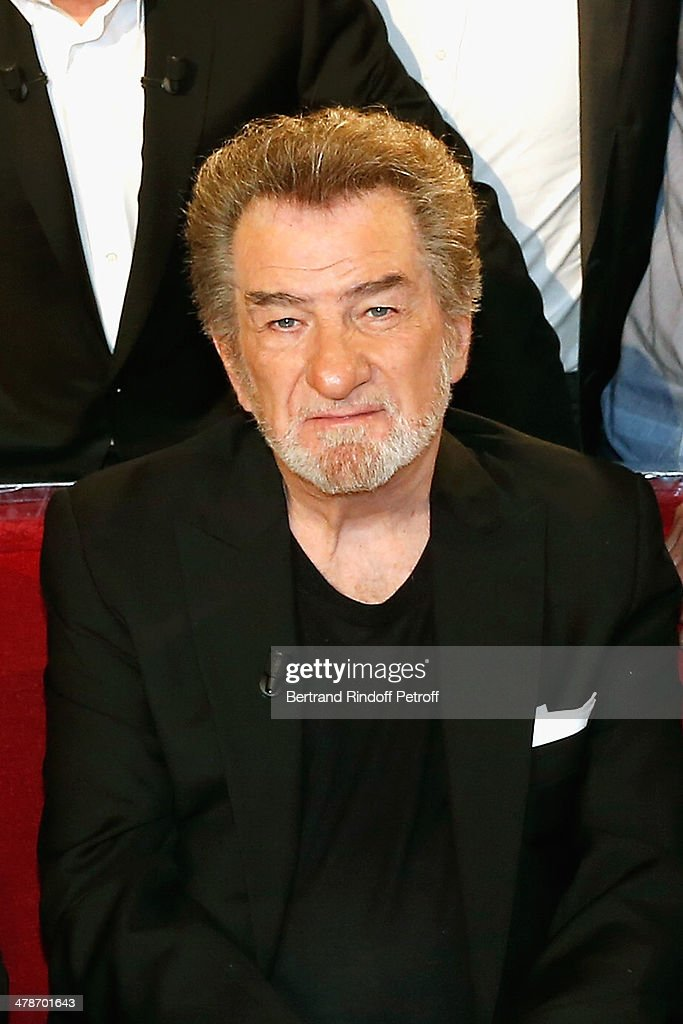 Singer Eddy Mitchell attends the 'Vivement Dimanche' French TV show at Pavillon Gabriel on March 14, 2014 in Paris, France.