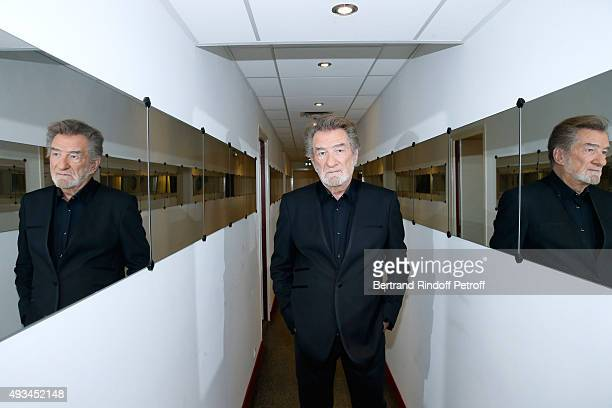 Singer Eddy Mitchell presents his Show wich he will perform at 'Palais des sports' from March 2016 during the 'Vivement Dimanche' French TV Show at...