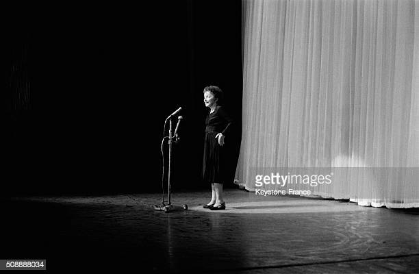 Singer Edith Piaf Back On Stage At the Olympia Music Hall in Paris France on September 28 1962