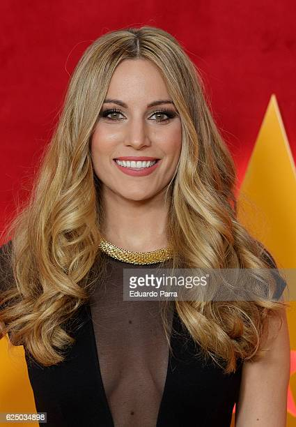 Singer Edurne Garcia attends the 'Got Talent' TV show photocall at Nuevo Teatro Alcala on November 22 2016 in Madrid Spain