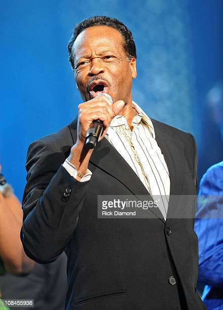 Singer Edwin Hawkins performs onstage at the 40th Annual GMA Dove Awards held at the Grand Ole Opry House on April 23 2009 in Nashville Tennessee
