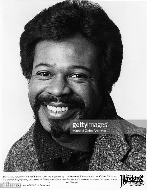 Singer Edwins Hawkins poses for a portrait to publicize his TV show and recording 'Edwin Hawkins Live At The Symphony' in 1981