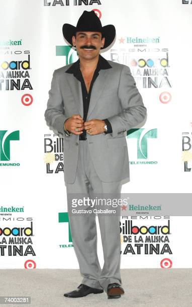 Singer El Chapo de Sinaloa poses in the press room at the 2007 Billboard Latin Music Awards at the Bank United Center April 26, 2007 in Coral Gables,...