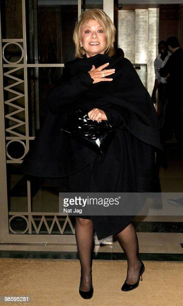 Singer Elaine Paige attends Nicky Haslam's book launch party on April 21 2010 in London England